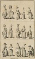 CHODOWIECKI (1726-1801). Trachten und Damenmode; Druckgraphik
