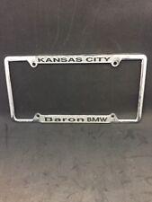 License Plate Bracket Frame Back Bumper Kansas City Baron BMW