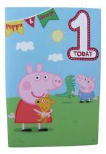 Peppa Pig birthday card for age 1 (ONE) by Gemma - 243222
