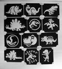 bm2020 set1 dino dino designs GLITTERTATTOO 12 different stencils glitter tattoo