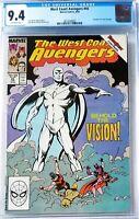West Coast Avengers #45 CGC 9.4 - Wandavision White Vision, #57 homage (1989)