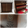 Money Chest Medals Table 10 Drawer Colour Walnut Coins&more Coin Cabinet Medals