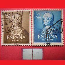 ESPAÑA 1951 EDIFIL ES 1092 y 1093 ISABEL LA CATOLICA Yt ES 811 y 812