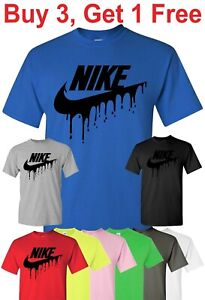 Nike Drip Logo T shirt custom created Tee