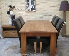 any-size-made Real Solid Wood Dining Table & Chairs RUSTIC PLANK PINE FURNITURE