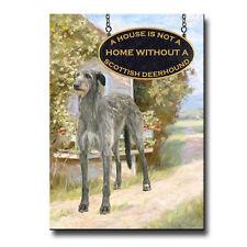 SCOTTISH DEERHOUND House Is Not A Home FRIDGE MAGNET