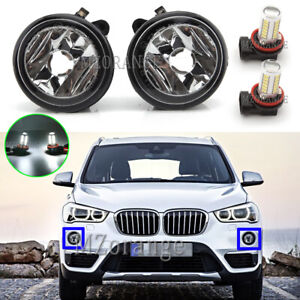 LED Left & Right Side Front Bumper Fog Light Lamps For BMW X1 F48 X3 F25 X4 F26