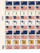 US-Historic Flag- Full Sheet Stamp #1345-54 MNH