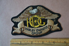 "HARLEY OWNERS GROUP ""HOG"" JACKET PATCH SIZE SMALL 4.75"" x 3"" #1359"