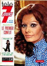 Télé 7 Jours n° 810 Sophia Loren, Daniel Guichard, Serge Lama, Brialy