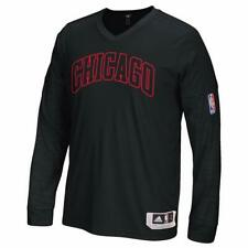 Chicago Bulls adidas Adult On-Court Long Sleeve Shooter Top - Black