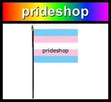Transgender Desk Flag With Stick 4 inch x 6 inch Polyester Trans Pride #955