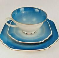 LETTIN Porzellan Vintage Sammelgedeck blauer Farbverlauf 50/60er Jahre DDR