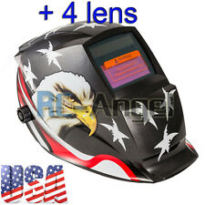 USA Eagle Solar Welder Mask Auto-Darkening Welding Helmet Arc Tig mig grinding