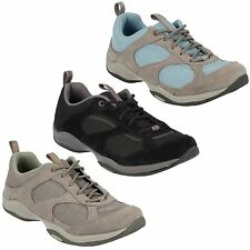 INWALK AIR LADIES CLARKS SUEDE  LACE UP HIKING  WALKING TRAINERS PUMPS SHOES