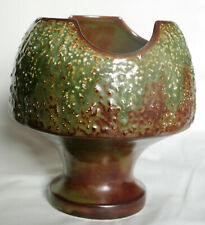 Rare Vintage Green and Brown Textured Mushroom Vase - 4935 - SylvaC