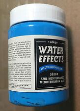 VALLEJO 26202 - WATER EFFECT MEDITERRANEAN BLUE 200ml - NUOVO
