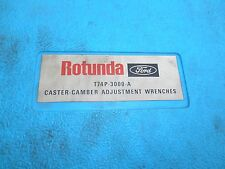 1970's FORD DEALER ROTUNDA CASTER CAMBER ADJUSTMENT WRENCHES SPECIAL TOOL KIT