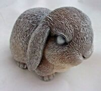 Latex rabbit mold with plastic backup plaster concrete casting mould