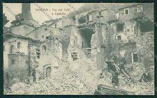 L'Aquila Pescina Terremoto cartolina QQ3990