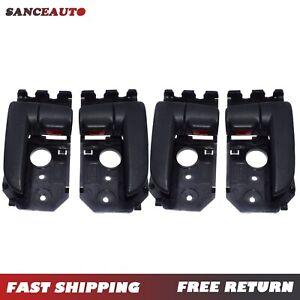 4PCS Front & Rear Left Right Interior Black Door Handle for 05-09 Kia Spectra