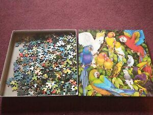 VINTAGE Springbok JUNGLE BIRDS Puzzle 500 PCs. COMPLETE! Pieces box perfect