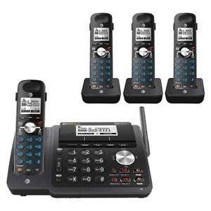 AT&T TL88102BK 2-LINE DECT 6.0 PHONE SYSTEM - 4 CORDLESS - BRAND NEW