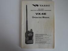 YAESU VX-6E (GENUINE INSTRUCTION MANUAL ONLY)...........RADIO_TRADER_IRELAND.