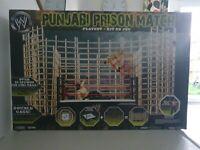 WWF WWE Punjabi Prison Match Cage ring playset Great Khali Figure excellent rare