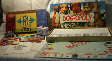 CARDINALS NICK AT NITE TV TRIVIA GAME NO. 2050 & DOG-OPOLY MONOPOLY BOARD GAME