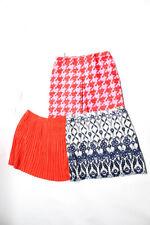 Banana Republic J Crew Womens Pencil Skirt White Red Purple Size 16 Large Lot 4