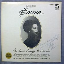 Emma Jack de Mello Presents Emma LP Muisc of Polynesia MOP 16000 SIGNED NM/VG+