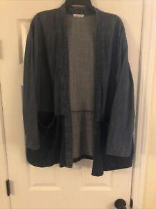 Eileen Fisher Womens Red Merino Boiled Wool Kimono Jacket Cardigan XL BHFO 3403