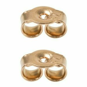 5mm 375 Solid 9ct Rose Gold Earring Backs Scrolls Butterfly Scroll  1 Pair