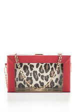 Charlotte Olympia Clear Perspex Red Leather Astaire Handbag $1995 New In Box