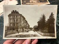 CARTOLINA IVREA HOTEL DORA E CORSO CAVOUR 1934 NON VIAGGIATA 44
