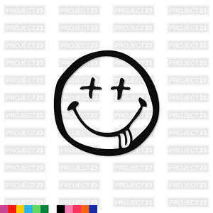 DRUNKEN SMILEY Jap JDM Dub Vag Drift Funny Window/Car/Van Decal Sticker 145