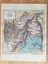Oberamt Neuenbürg Bauser Hand-Atlas KARTE von 1885 Herrenalb Wildbad Dobel