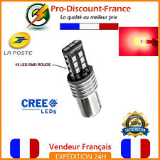 1 x ampoule 15 LED ROUGE BA15S 1156 P21W VOITURE CAMION SMD LEDS RED