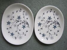 2 Vintage Johnson's Titania Hand Engraved Oval Platters Gift Display Home