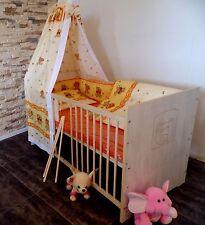 lit bébé à barreaux set complet Enfant 5farben convertible 60x120 Blanc Rose