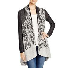Nic + Zoe 7889 Womens B/W Knit Marled Shawl Collar Cardigan Sweater Top XS BHFO