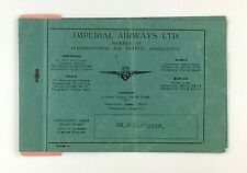 IMPERIAL AIRWAYS USED VINTAGE AIRLINE TICKET LONDON - PARIS - LONDON