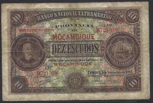 Mozambique, 10 Escudos, 1.9.1941, P-84a.