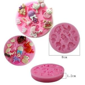 Baby Car Bear Silicone Chocolate Molds Cake Resin Mold Pastry Decorating To`