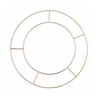 Basic Wire 10in Flat Wreath Ring - Single Floristry Hoop Frame