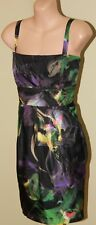 Womens Gorgeous Multi Colour Silk Dress - Saba - Size 14