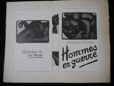 A.F. Del Marle Recueil de 9 gravures Dédicace Signé + Tapuscrit Futurisme 1922