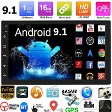 "2Din 7"" Android 9.1 Touch Quad Core Car Stereo MP5 Player GPS Navi WiFi FM Radio"
