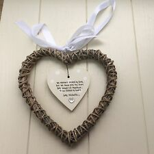 Shabby personalised Gift Chic Special Best Friend Gift.. hanging Willow heart